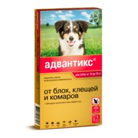 BAYER ADVANTIX для собак от блох, клещей, комаров 250 (10-25кг веса)
