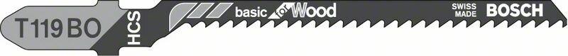 Пильное полотно T 119 BO Bosch Basic for Wood (2608637879)