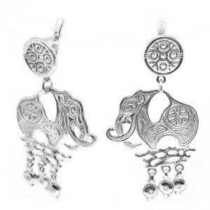 Серебряные серьги Уран Саха арт. USE117