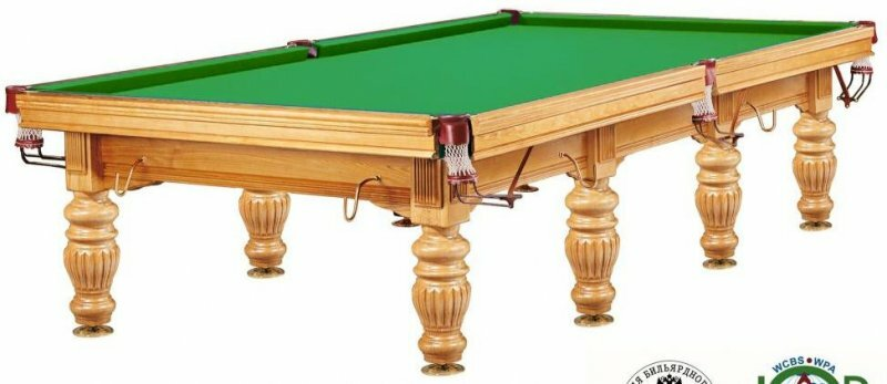 Бильярдный стол для русского бильярда Weekend «Dynamic Prince» 12 ф (дуб)