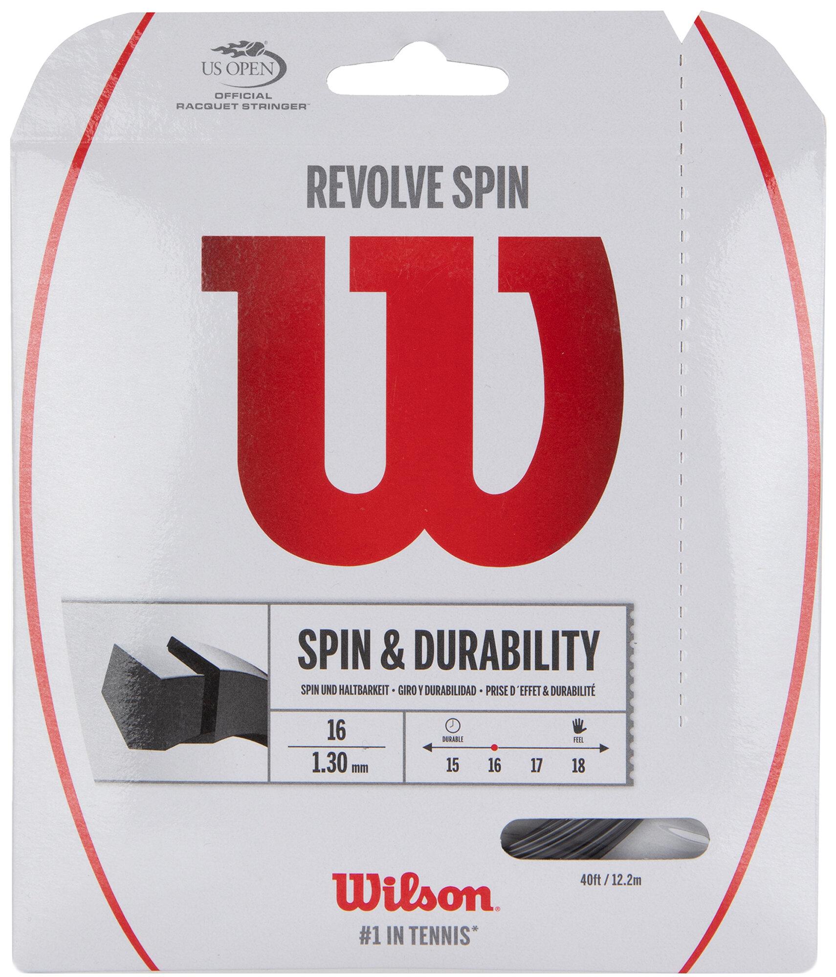 Струна для большого тенниса Wilson REVOLVE SPIN 16