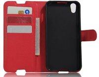 Красный чехол флип-кейс для Alcatel Idol 4