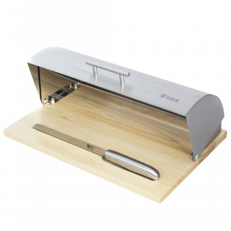 Хлебница TALLER TR-1974 + нож для резки хлеба