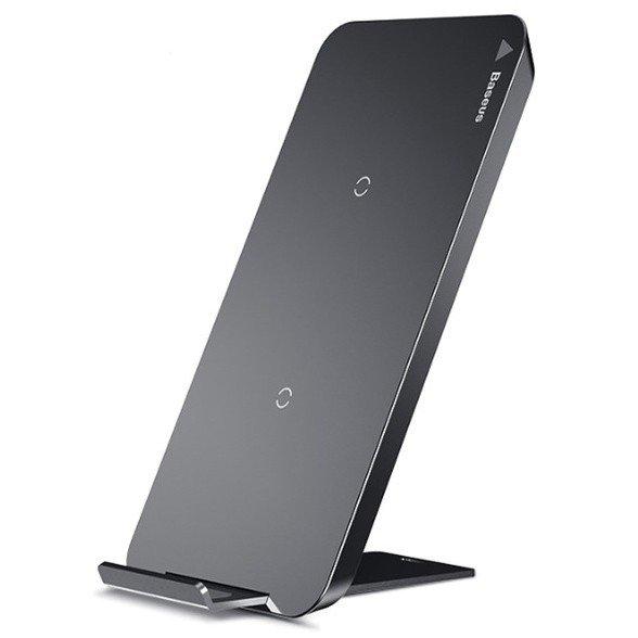 Беспроводная зарядка-подставка для телефона быстрая Baseus Multifunctional - Черная (WXHSD-01)