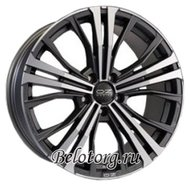 Диск OZ Racing Cortina 9.5x20/5x112 D79 ET52 Matt Dark Graphite Diamond Cut - фото 1
