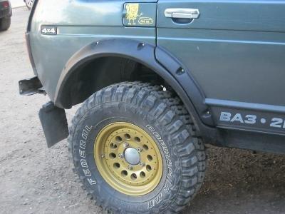 Расширители колёсных арок Lapter для ВАЗ нива 2121 3D под нерезанные арки колёс