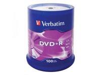 Расходные материалы Verbatim DVD+R 4.7ГБ 16x (100шт., на шпинделе)