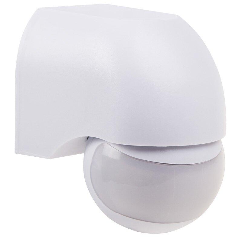 Датчик движения настенный REXANT ДДС 03, 180°,1200Вт,3-2000Лк, 12 м,10-720 сек,IP44