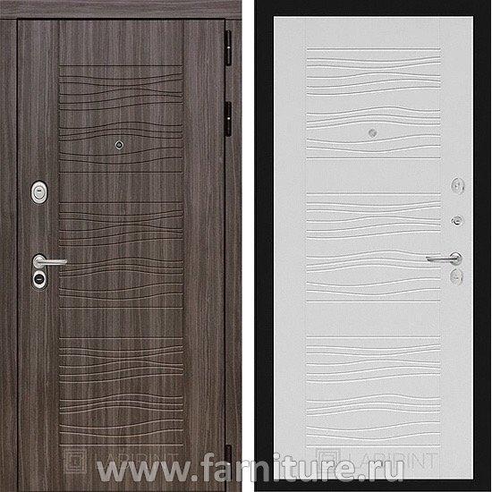 Входная металлическая дверь Лабиринт SCANDI 06 Белое дерево