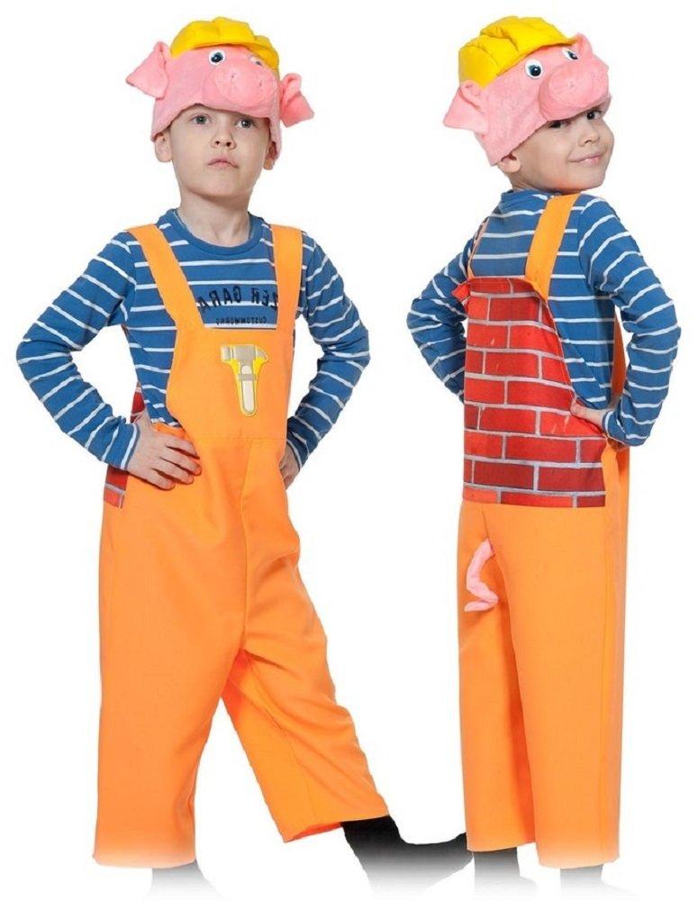 Карнавальный костюм для детей Карнавалофф Поросёнок в маске с каской детский, 98-128 см