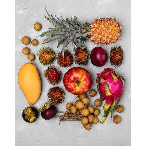Коробка экзотических фруктов