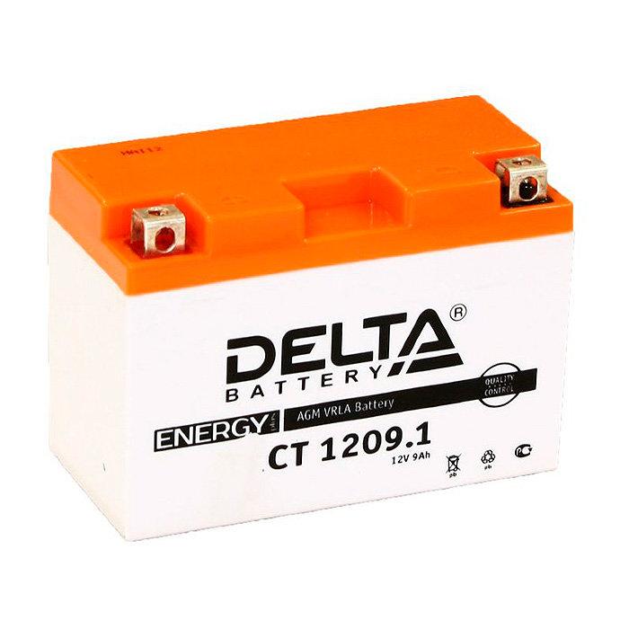 Аккумулятор для скутера, мотоцикла, квадроцикла DELTA CT1209.1 (YT9B-BS) DELTA-CT1209.1
