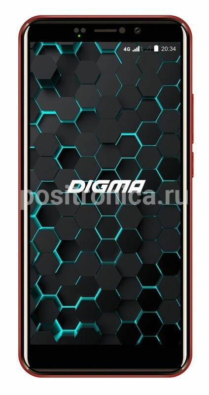 Смартфон Digma Linx Pay 4G 16ГБ красный (LS5053ML)