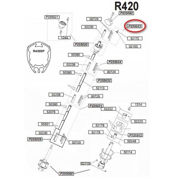 Верхний упор Profurl P255033 для R420