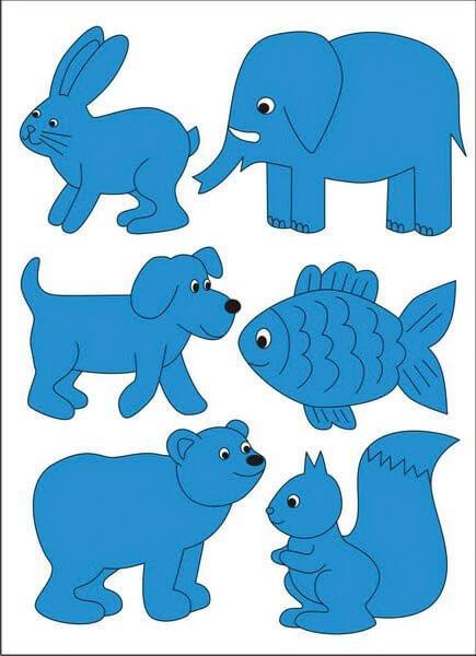 Картинки с голубым цветом для детей