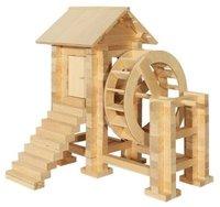 Деревянный конструктор Водяная мельница, 194 детали Пелси К615