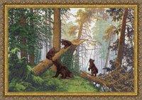 """Набор для вышивания """"Утро в сосновом лесу"""" Золотое руно пф-008 (вышивка крестом)"""