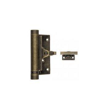 Дверные доводчики Aldeghi Luigi 115OA001 Доводчик дверной стальной пружинный до 25кг Aldeghi (77x235мм) античная бронза