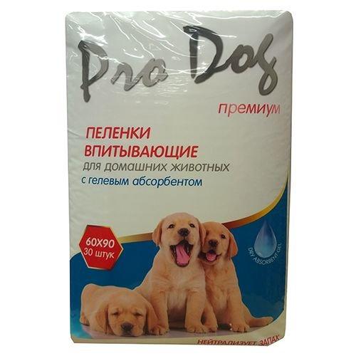 Пеленки для кошек И собак PRO DOG С гелевым абсорбентом 60Х90СМ 30ШТ
