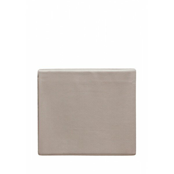 Простыня на резинке «Castello» (цвет: серо-бежевый; 200х220х30 см; сатин: 100% хлопок)