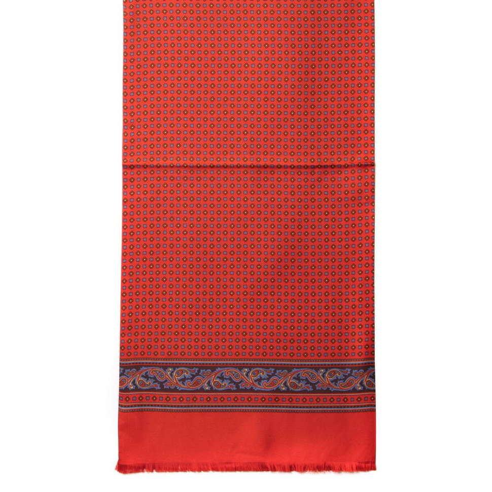 Яркий мужской шарф кашне Club Seta 57336