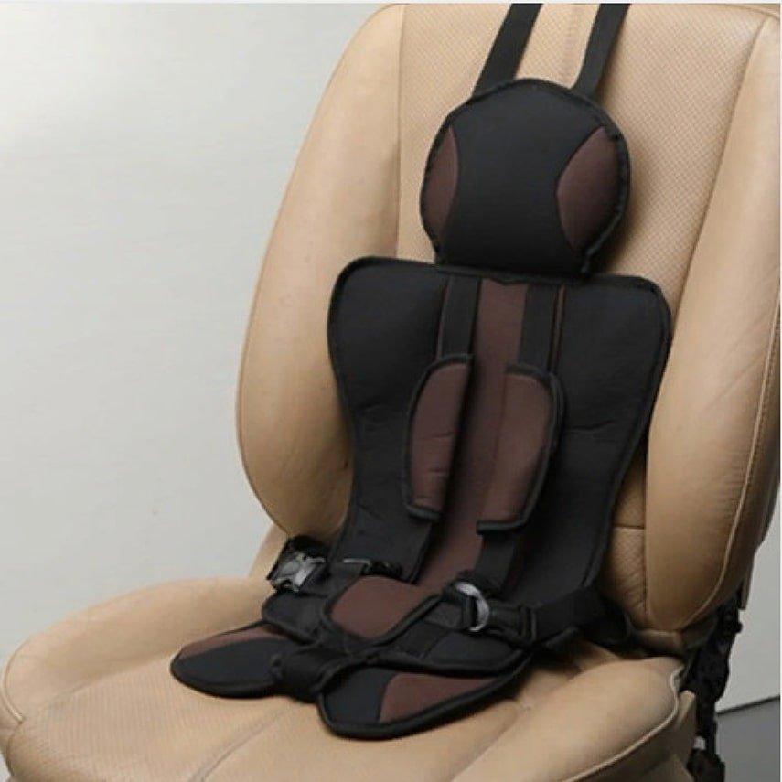 Детское мягкое бескаркасное автокресло Child Car Seat коричневое
