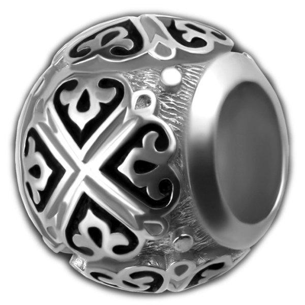 Бусина православная 1,3 см серебро 925 проба, арт прб-055