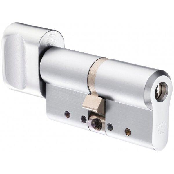 Abloy CY323T Цилиндр с поворотной кнопкой (хром)
