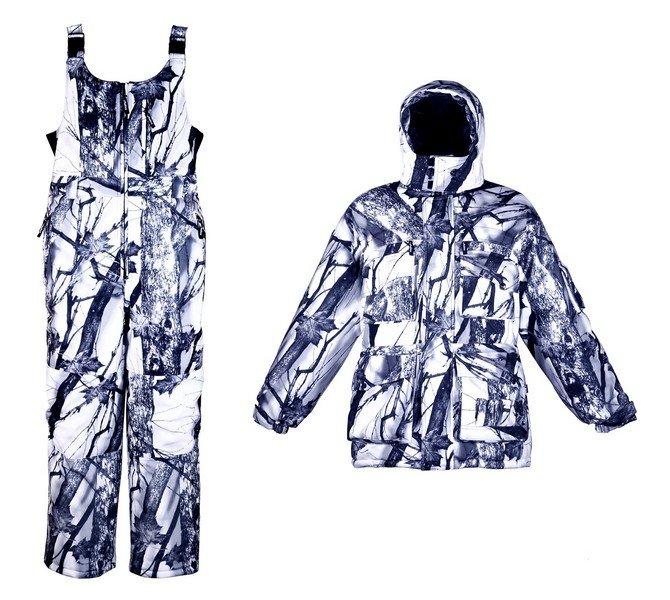 Зимний костюм для охоты Чайка Иней, -30С (мембрана, зимний лес)