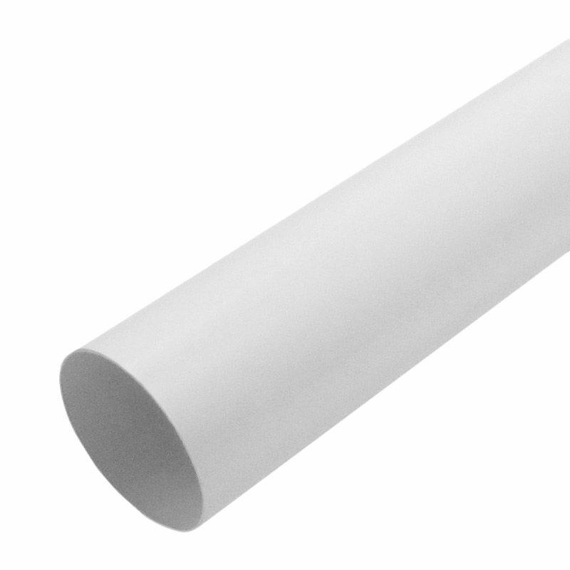 Труба водосточная Мурол, d=80, белая, 2 м