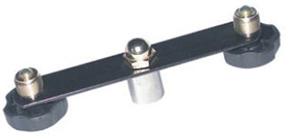 ROCKDALE 3822 адаптер для установки 2х микрофонов на микрофонную стойку, длина 15 см, чёрный