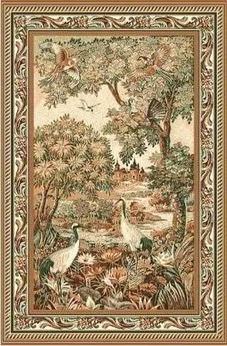 Люберецкие ковры Ковер Фауна 141-01 Цапли 1.5x2.05 м.