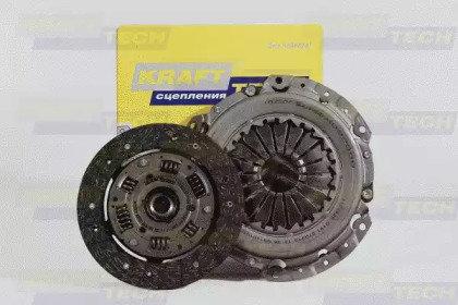 Комплект сцепления nissan qashqai/tiida 1.6-2.0wd 06 Krafttech W21200C9