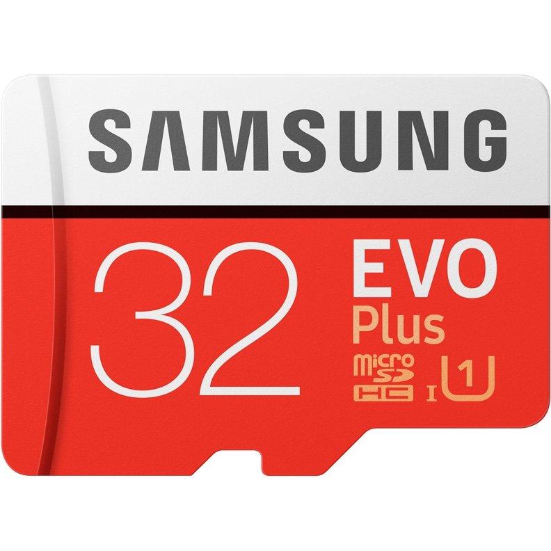 Карта памяти SAMSUNG EVO Plus V2 microSDHC 32Gb UHS-I U1 + ADP (95/20 Mb/s), MB-MC32GA