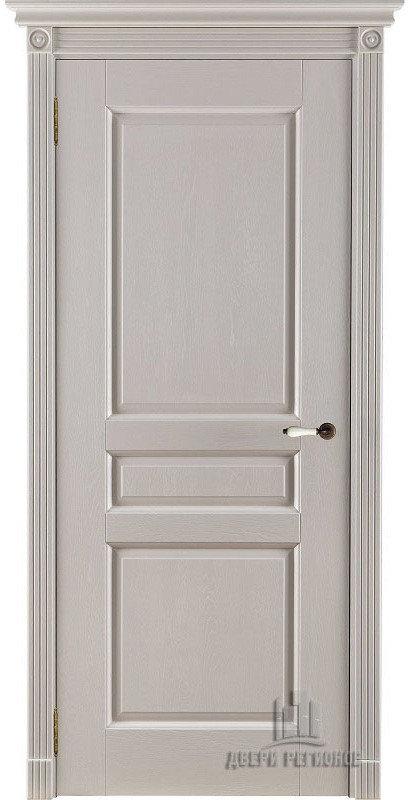 Белорусские двери из массива дуба Виктория (Слоновая кость ПГ)