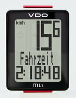 Велокомпьютер VDO M1.1 5 функций, 3-строчный дисплей, черно-белый