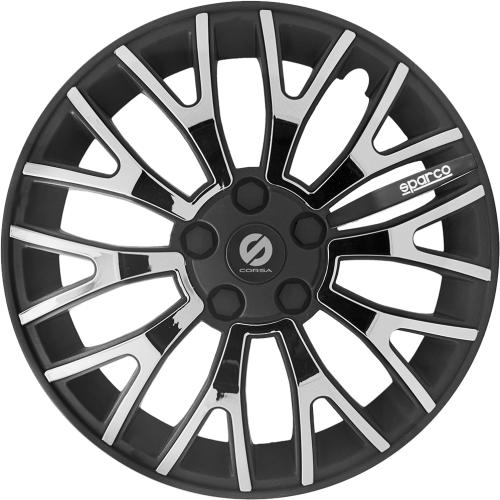 Колпаки на колёса SPARCO серия Ultraleggera, комплект 4 шт., чёрн./воронёный, 13