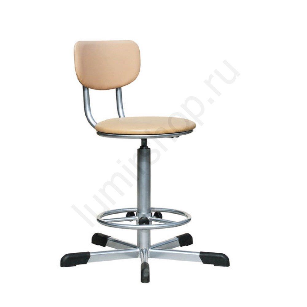 Кресло парикмахерское KP02 на винтовой основе с регулируемой подставкой для ног