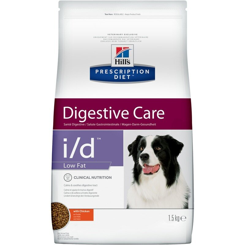 Hills Prescription Diet (1.5 кг) I/D Canine Low Fat Gastrointestinal Health dry