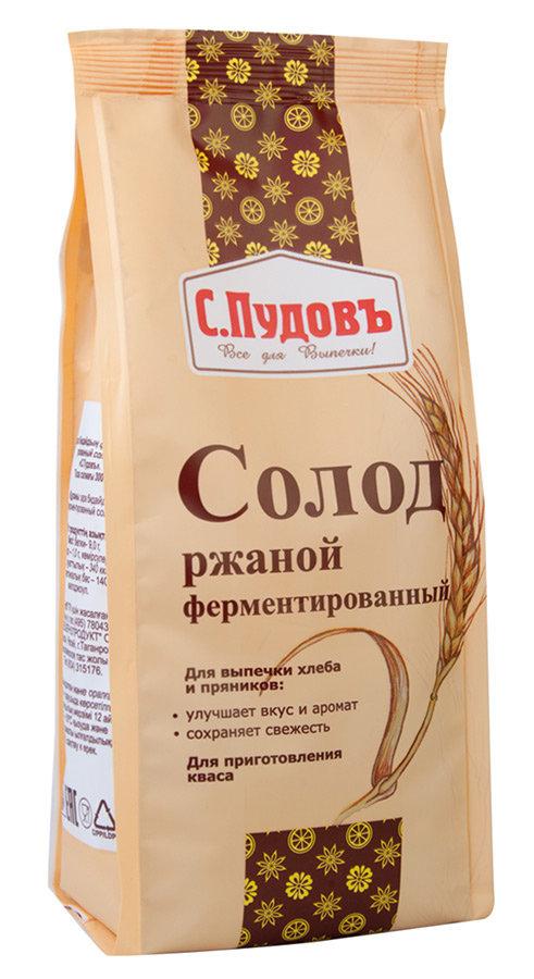 Солод С.Пудовъ ржаной ферментированный, 300г