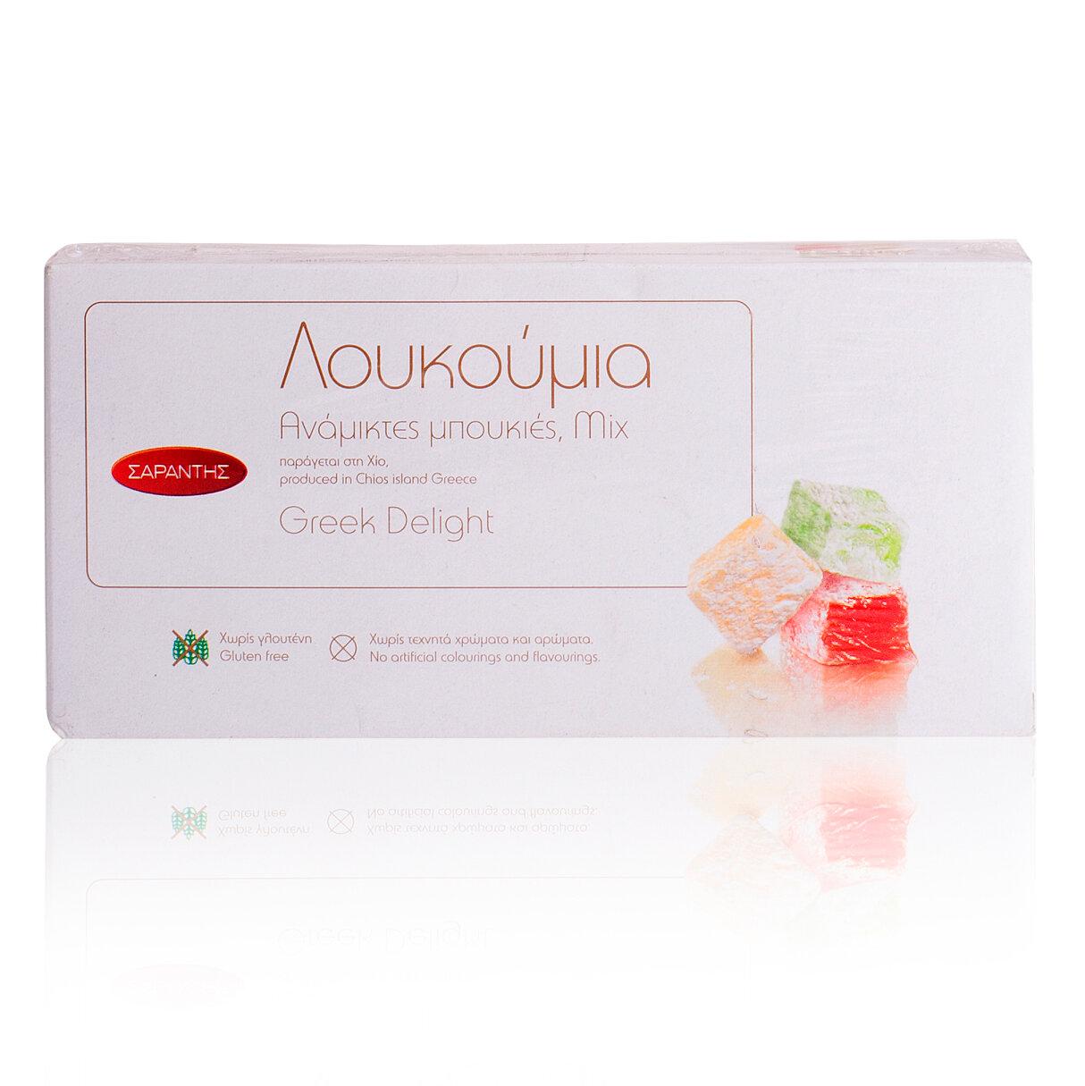 Греческие сладости Лукум фруктовый без глютена SARANTIS 400 гр