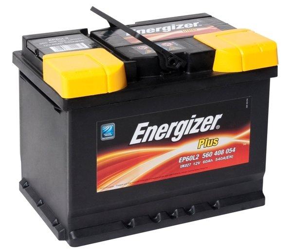 Аккумулятор ENERGIZER Plus EP60L2 560 408 054 обратная полярность 60 Ач
