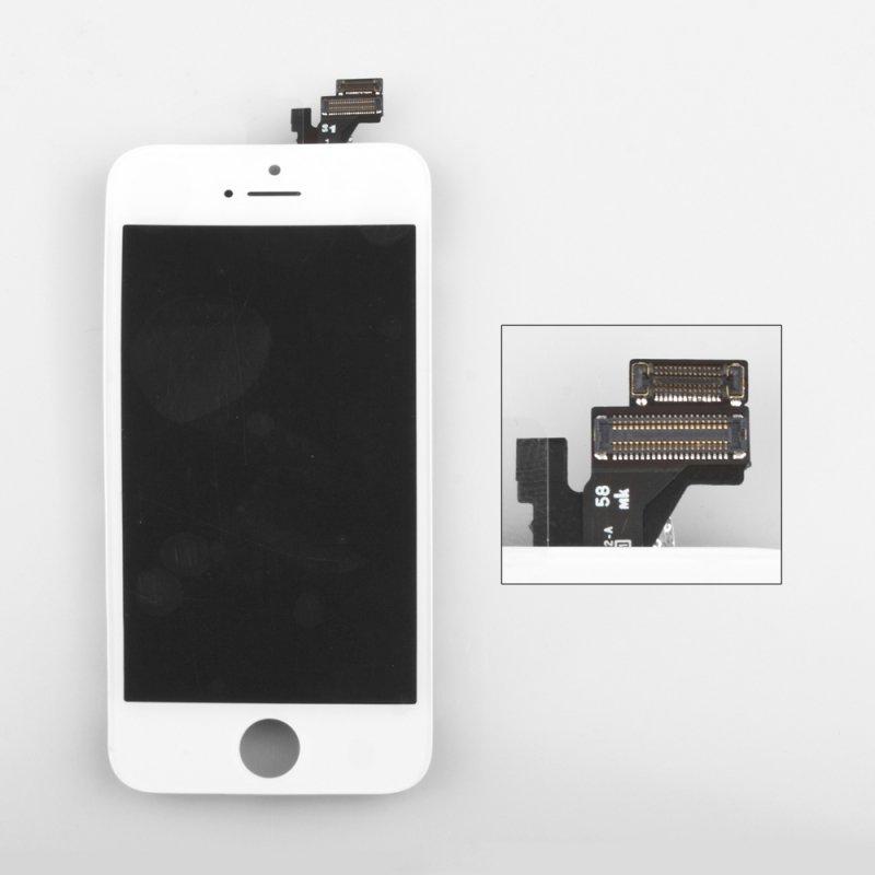 Дисплей с тачскрином LP для iPhone 5, (AAA) 1-я категория, белый