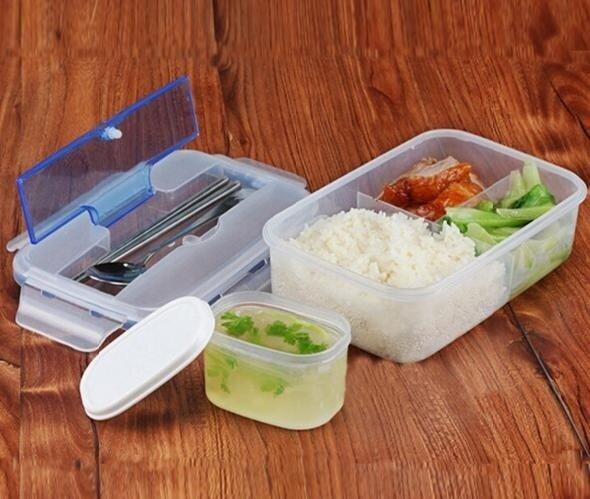 Ланч-бокс с тремя отделениями, контейнером для супа и приборами Lunch Box