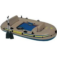 Надувная лодка Intex Экскурсия-4 (до 400кг) 315х165х43см + весла/насос (68324)