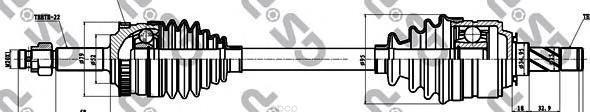 Привод В Сборе Opel Corsa C/Combo 1.0-1.8 00- Лев. Abs GSP арт. 244027
