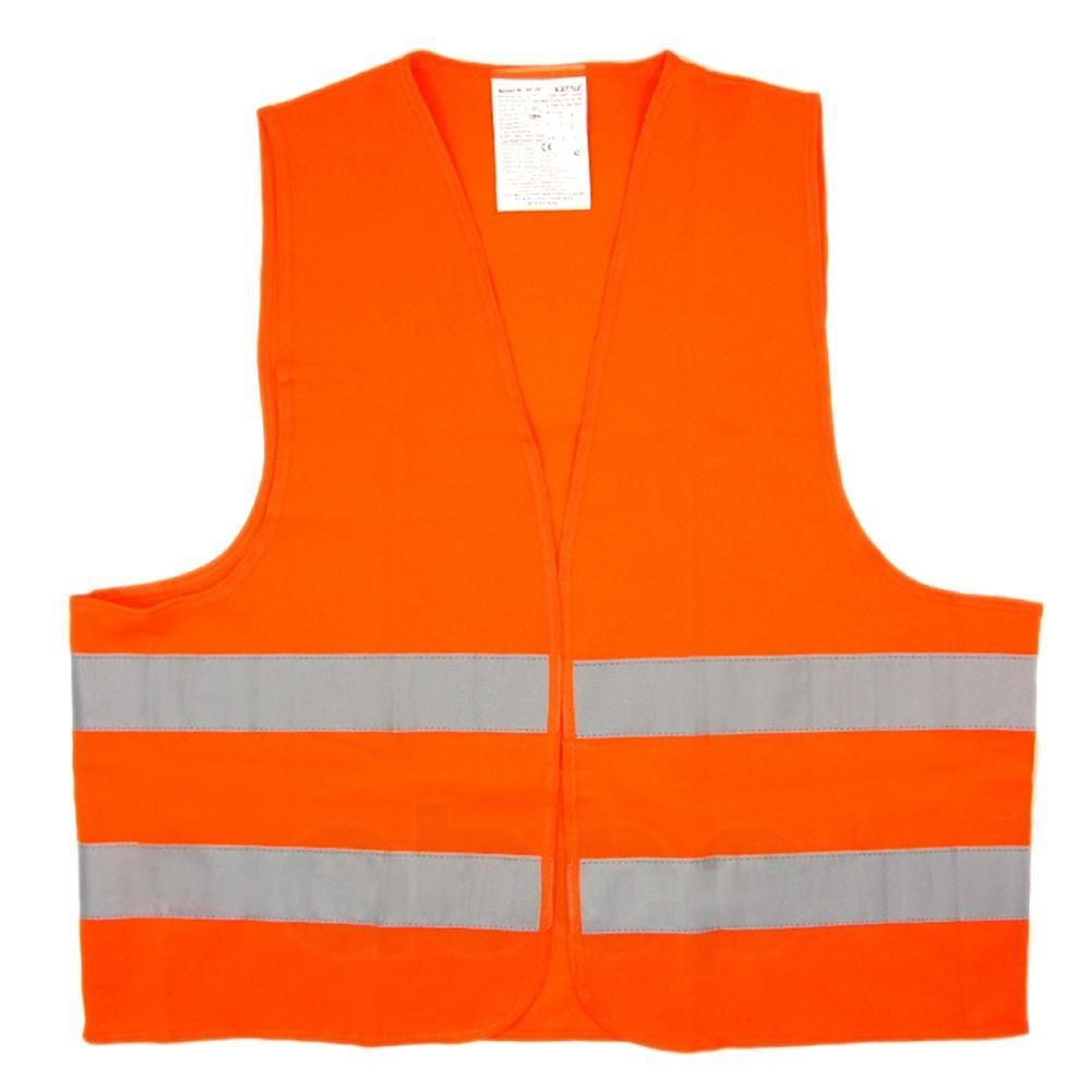 Жилет со светоотражающими полосами, взрослый, р. xl (65*65 см), оранжевый AIRLINE арт. ARWAV04