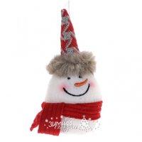 Koopman Елочная игрушка Снеговик в меховом колпаке 16 см, подвеска AAT000920