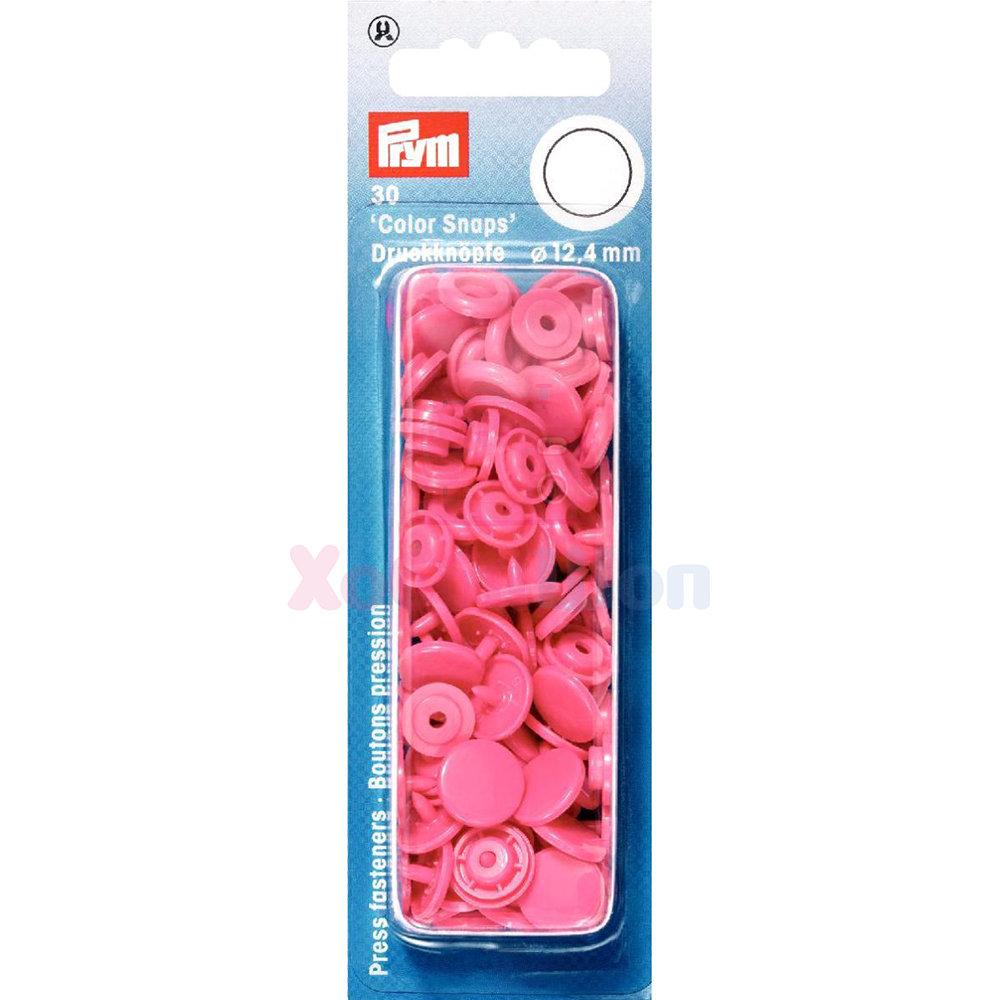 Кнопки Color Snaps пластик 30 шт ярко-розовый Prym 393147