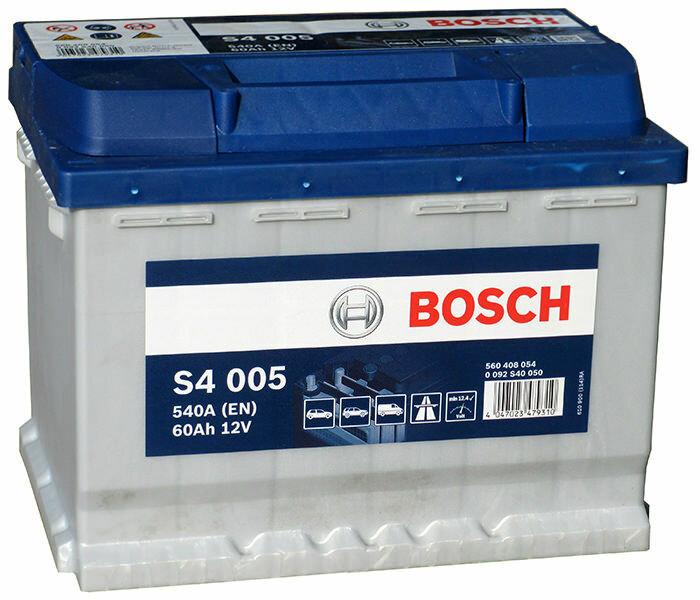 Аккумулятор 240/175/190 mm 60 A/H 540а/ч артикул: 0092S40050 производитель: BOSCH